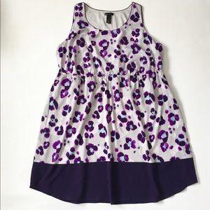 Lane Bryant Sleeveless midi dress floral 22-24